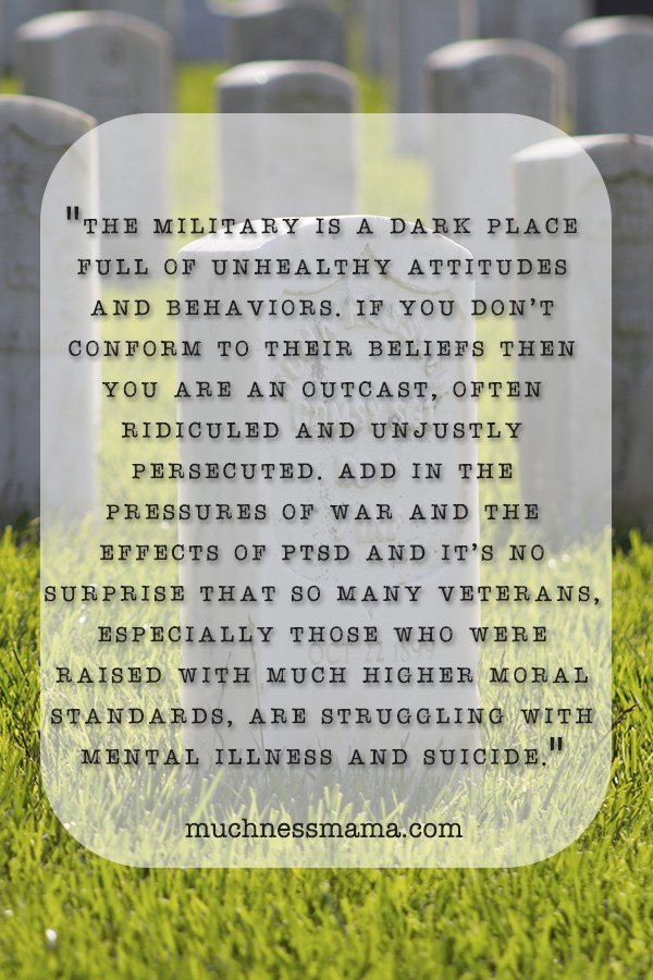 Memorial Day- The Dark Side of Military Service | veteran suicide rates | women in the military | military mental health | women int eh Marine Corps | mental health problems in the service